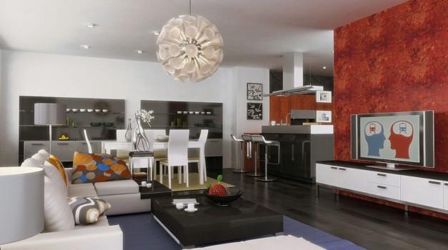 Trik Gabungkan Ruang Makan dan Ruang Keluarga