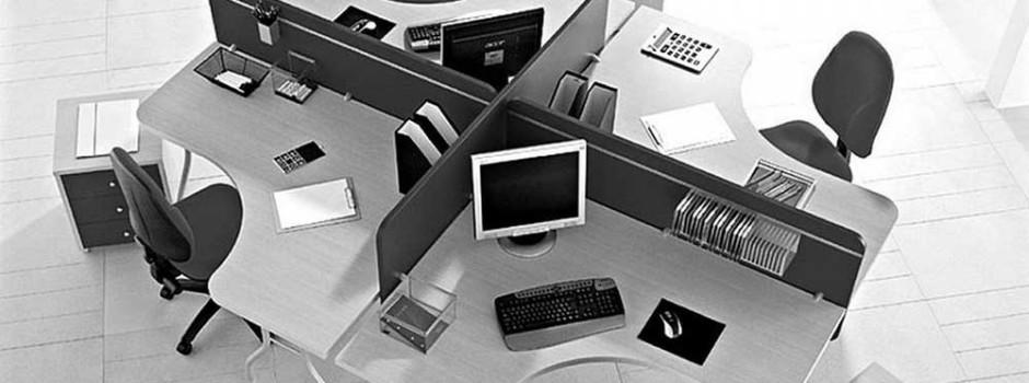 Black White Office