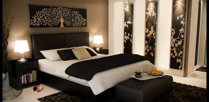 Master Bedroom Hitam Nan Artistik